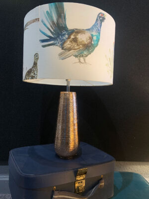 Bird Shade with Copper Stand